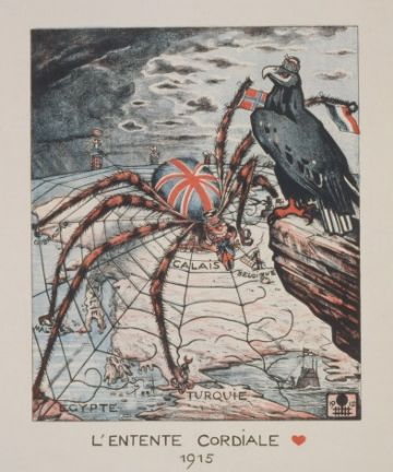 Anglo-French agreement - L'Entente Cordiale 1915. World War One Poster